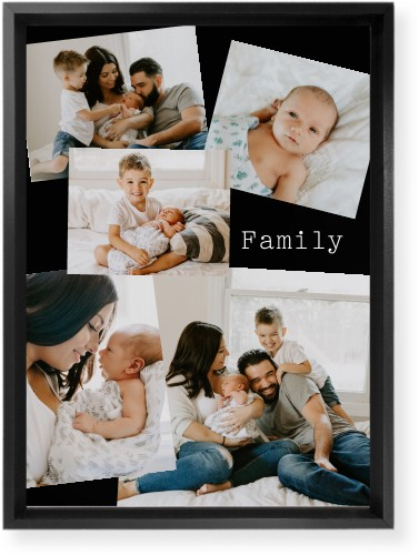 Gallery Collage of Five Mounted Wall Art, Single piece, Black, 10 x 14 inches, Multicolor