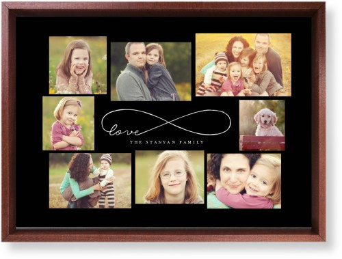 Love Infinity Mounted Wall Art, Single piece, Brown, 10 x 14 inches, Black
