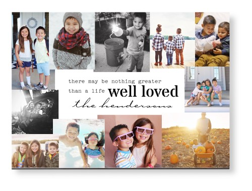 Well Loved Collage Mounted Wall Art, Single piece, None, 10 x 14 inches, White
