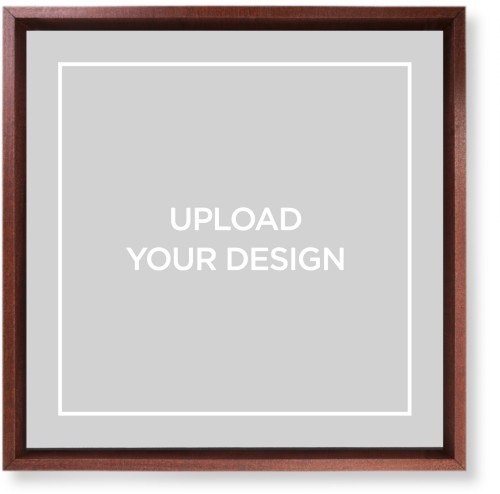 Upload Your Own Design Mounted Wall Art, Single piece, Brown, 12 x 12 inches, Multicolor