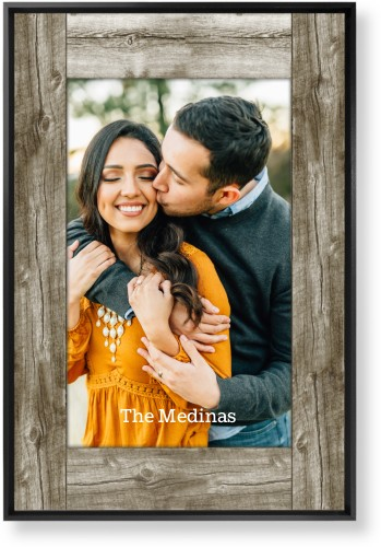 Wood Photo Real Mounted Wall Art, Single piece, Black, 20 x 30 inches, Beige