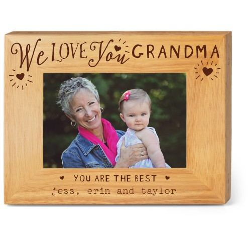 Hearts Full Grandma Wood Frame