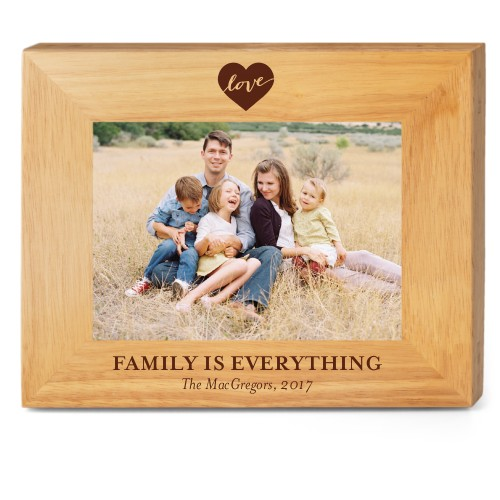 Love Script Wood Frame, - No photo insert, 10x8 Engraved Wood Frame, White