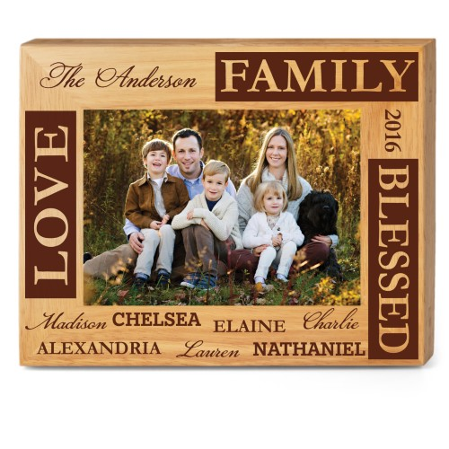 Blessed Family Wood Frame by Shutterfly | Shutterfly
