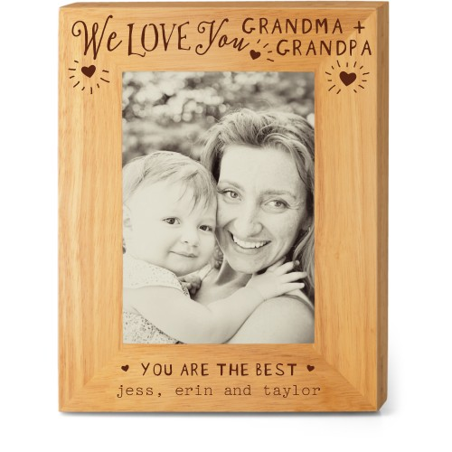 Hearts Full Grandparents Wood Frame