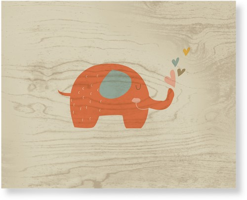 Heart Elephant Wood Wall Art, Single piece, 16 x 20 inches, Multicolor