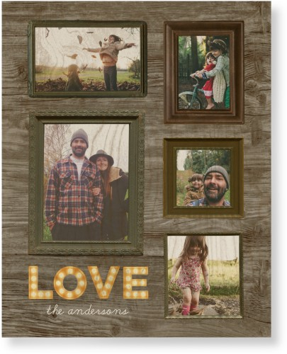 Photo Real Love Wood Wall Art