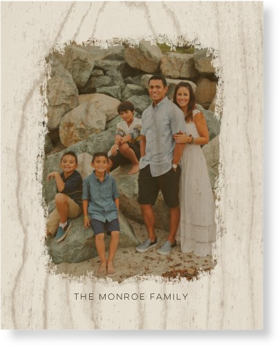 Brushed Memory Newsprint Wood Wall Art, Single piece, 8 x 10 inches, White