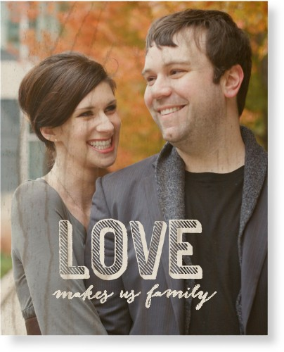 Love Makes Family Wood Wall Art, Single piece, 8 x 10 inches, White