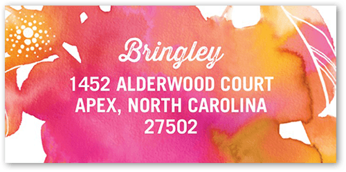 Blooming Watercolor Address Label