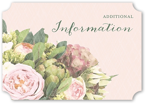 Flowering Affection Wedding Enclosure Card