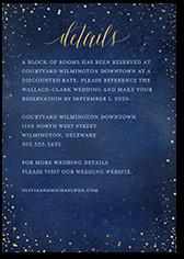resplendent night wedding enclosure card