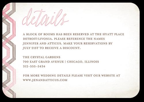 Delightful Blooms Wedding Enclosure Card