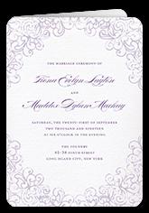 dazzling lace wedding program