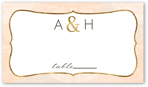 Tenderly Textured Wedding Place Card