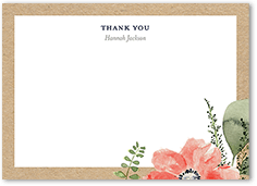 bridal bouquets thank you card