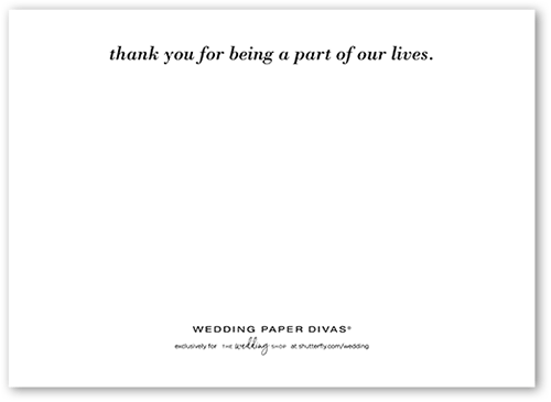 Flourishing Thanks Thank You Card Designer Magnolia Press For Wedding Paper Divas