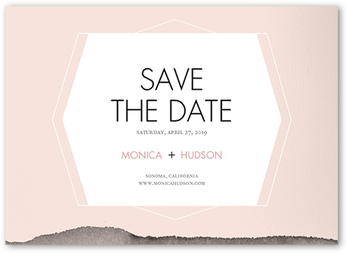 Layered Hues Save The Date, Square