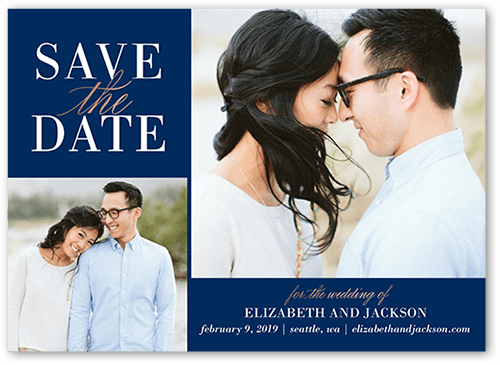 Classic Request Save The Date, Square