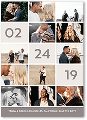 dated squares save the date