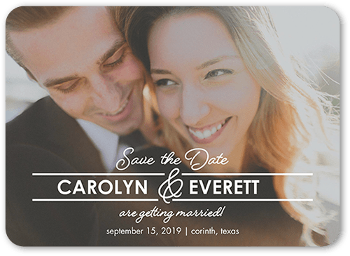 Graceful Union Save The Date, Rounded Corners