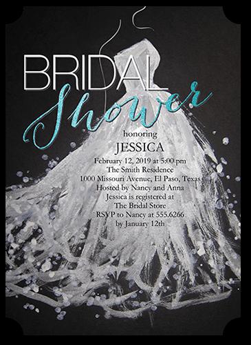 Sequin Splash Bridal Shower Invitation, Ticket Corners