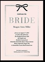 bridal ribbon bridal shower invitation