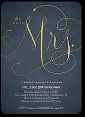 simply mrs bridal shower invitation
