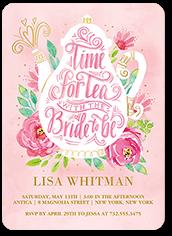 ladylike celebration bridal shower invitation