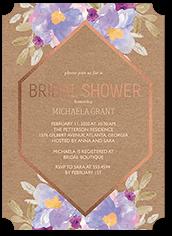 gleaming hexagon bridal shower invitation