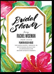 tropical elegance bridal shower invitation