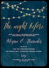 glowing night rehearsal dinner invitation