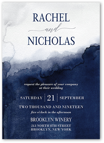 Excellent Watermark Wedding Invitation