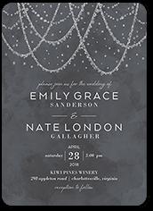 draping lights wedding invitation