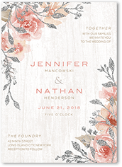 radiant foliage wedding invitation