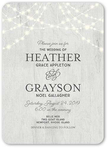 Glowing Ceremony Wedding Invitation, Square