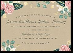 impeccable floral wedding invitation