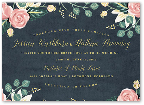 impeccable floral wedding invitation - Shutterfly Wedding Invitations