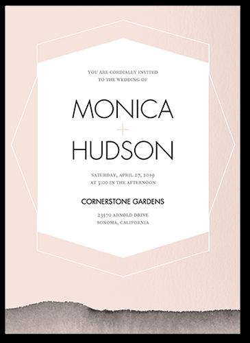Layered Hues Wedding Invitation, Square Corners