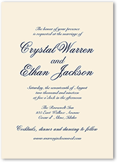 minimal script wedding invitation