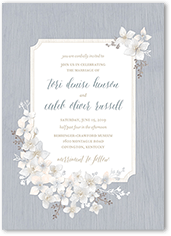 rustic wildflowers wedding invitation