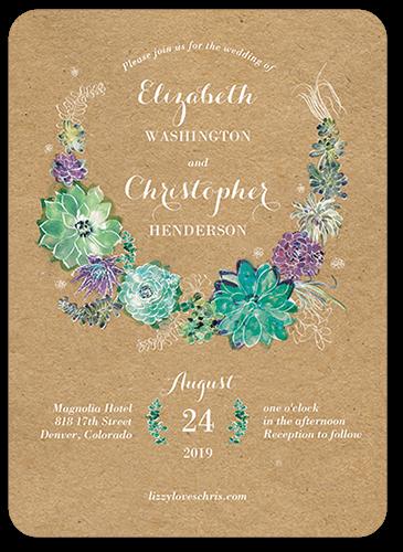 Splendid Succulent 5x7 Wedding Invitations Shutterfly