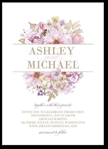 Watercolor Bouquet Wedding Invitation
