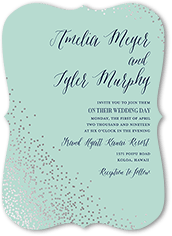 effervescent sparkle wedding invitation
