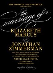 modish marriage wedding invitation