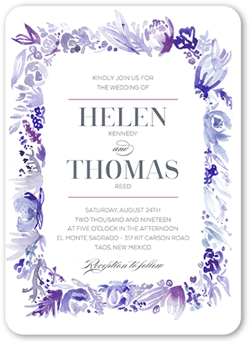 Delicate Fringe Wedding Invitation
