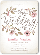 delightful blooms wedding invitation