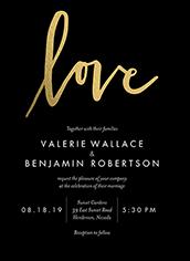 dipped love modest wedding invitation