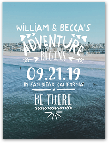 Adventure Awaits Save The Date, Square