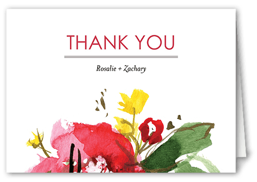 Stunning Floral Thank You Card
